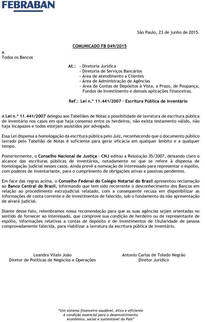 Comunicado FB 049-2015(1)