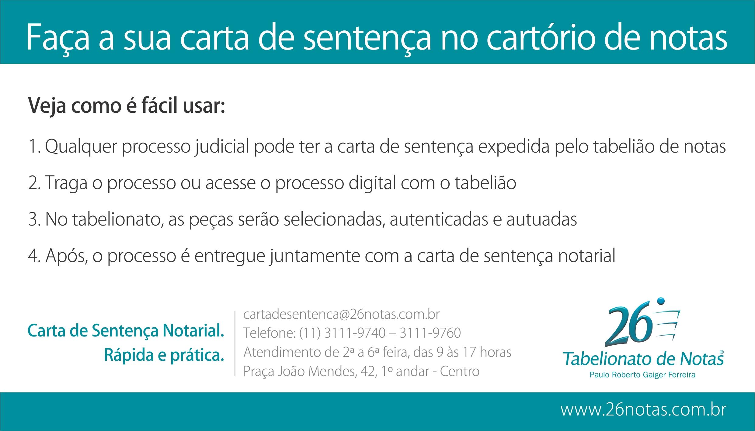 26º Tabelionato De Notas De São Paulo Serviços Doação